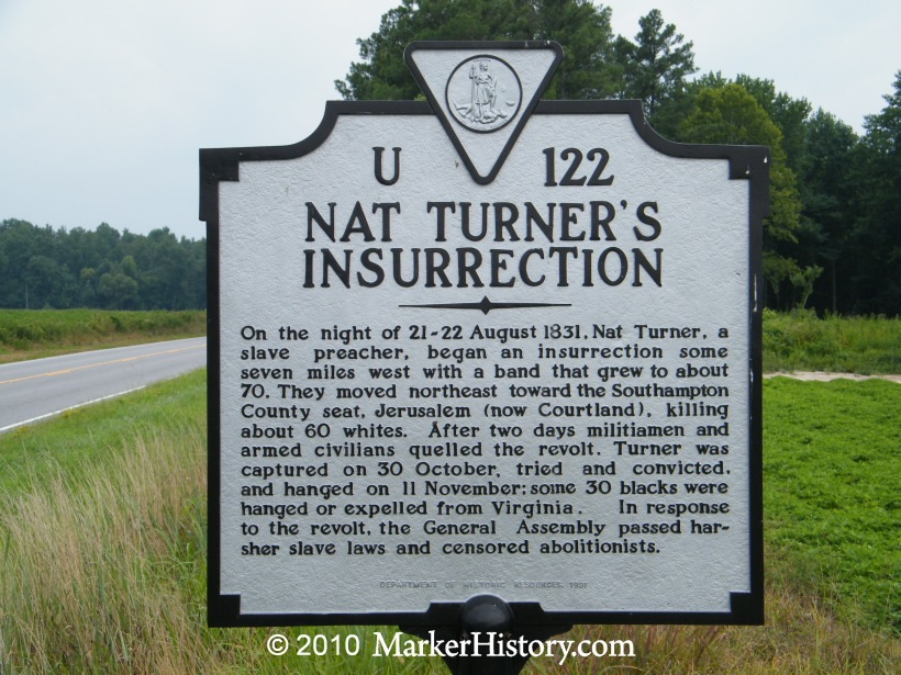 u-122 nat turner's insurrection