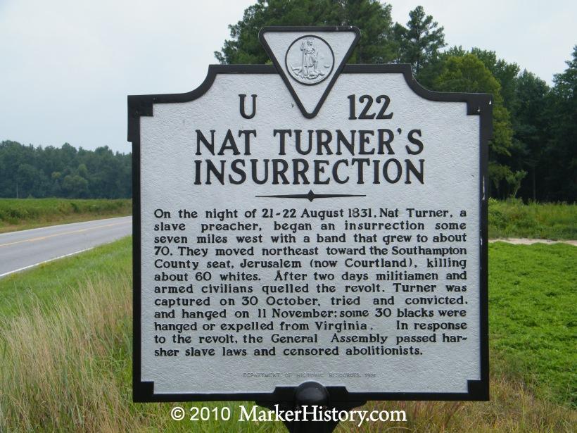 u-122 nat turner's insurrection