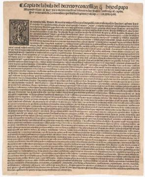 Pope Alexander VI's Demarcation Bull, May 4, 1493. (Gilder Lehrman Collection)
